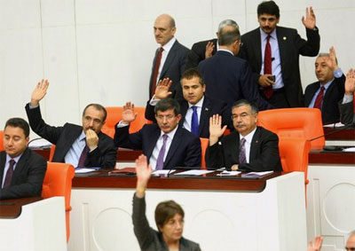 In an emergency session on 4 October 2012, Turkey's parliament passed a bill to authorize military action against Syria.